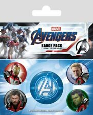 Avengers Endgame pack 5 badges Quantum Realm Suits Marvel badge pack 806709