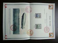 Germany Nazi 1936 AIR POST Stamp Hindenburg Third Reich Airmail WWII German Deut