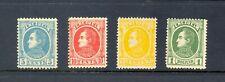 Venezuela Stamps, Scott 68, 70, 71, 73, 1880, Bolivar, VF-MH (hinge remnant)