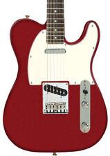 Guitares électriques rouge bois massif