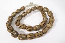 Schöner Strang Messingperlen SP1 Gelbguß Ghana Brass Beads Ashanti Akan Afrozip