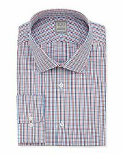 NEW Men's Ike Behar Classic Fit Checked Dress Shirt (15-1/2 32-33) MSRP $245.00