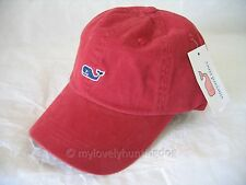NWT vineyard vines Whale Logo Embroidered Baseball Hat Cap Dark Red Birthday