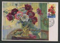 SAN MARINO MK 1957 FLORA KLATSCHMOHN MAXIMUMKARTE CARTE MAXIMUM CARD MC CM d8071