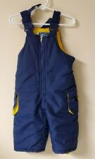 Weather Tamer Unisex Size 12 Months Navy Yellow Bib Overalls Snowpants