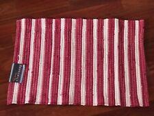 "Nourison 48"" x 30"" Brunswick Accent Rug Tapis Decoratif Mat In Red Striped New"