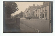 Robert Guy Baker Grocer Wines Spirits Shop Musselburgh 24 Dec 1909 Old Postcard
