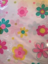 TWIN SHEET SET PINK GIRL'S LARGE FLOWERS COLORFUL NEW 3 PC NIP MAGGIE MILLER