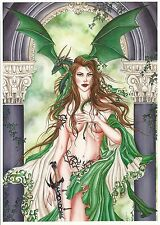 "Nene Thomas Fairy Print Oracle Dragon Witch Sword NEW 5""x7"" Faery Chic Woman"