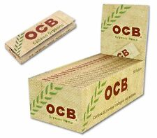 OCB cañamo organico ,  50 libritos. tamaño Corto regular 70mms. caja completa.