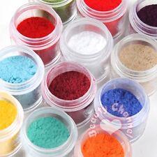 Nail Art 12 Colors Jumbo Size Velvet Flocking Powder Tips UV Polish Manicure Set