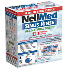 ツ NEILMED SINUS RINSE ALL NATURAL RELIEF 120 PREMIXED SACHETS SALINE IRRIGATION