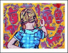 "DAVID BROMLEY ""Young Artist (Girl)"" Printers Proof Silkscreen PP 24cm x 30cm"