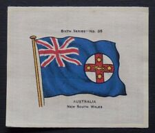 SCARCE John Sinclair Silk AUSTRALIA NEW SOUTH WALES 1914 FLAGS Sixth Series