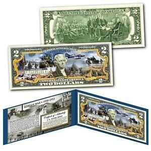 KOREAN WAR 1950-1953 Post WWII Forgotten War Genuine Legal Tender U.S. $2 Bill