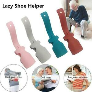 2X Unisex Wear Shoe Horn Helper Shoehorn Shoe Easy on + off Shoe Sturdy Slip Aid