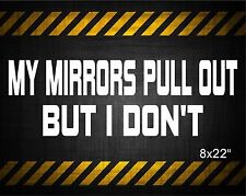 My mirrors pull out but I don't 22'' decal vinyl car sticker diesel banner ford