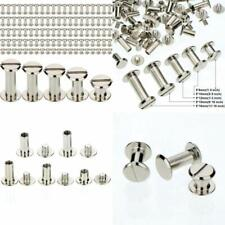 100Pc Silvery Chicago Screw Metal Screw Post Rivet for Leather Bookbinding Craft