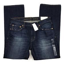New American Eagle Original Bootcut Jeans Mens 34 x 31 Dark Wash Distressed