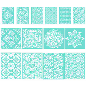 DIY Silk Screen Printing Stencil Floral Adhesive Mesh Transfer Glass Fabric Wood