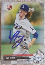 Los Angeles Dodgers Dustin May Signed 2017 Bowman Auto Card