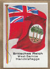 DRAPEAU British Empire Western Samoa occidentales Trade Commerce FLAG CARD 30s