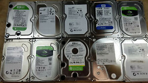 """Lot of 10 Mixed Brands 1TB 3.5"""" SATA Hard Drives HDD Tested Wiped"""