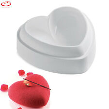 Non-Stick Silicone Love Heart Shape Cake Mold Chocolate Jelly Bread Baking Pan