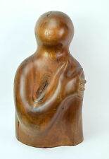 Vintage Mid-Century Modern Abstract Figure Carved Wood Sculpture Vitez Chicago