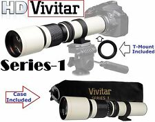 Vivitar 500mm Ser-1 Super Hi Def Telephoto Lens For Canon EOS Rebel T7i SL2 77D