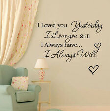 Home Removable I Love You Quote Decor Decal Room Wall Sticker DIY Vinyl Art