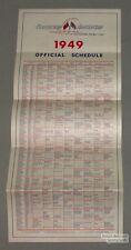 Original 1949 Canadian-American Baseball League Schedule
