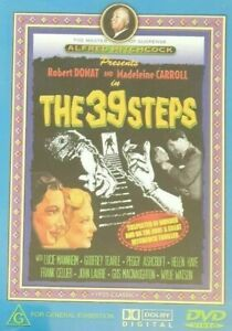 The 39 Steps DVD 1935 Alfred Hitchcock Movie Robert Donat Peggy Ashcroft AUSTRAL