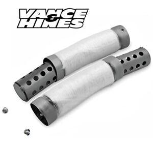 VANCE AND HINES 23081 QUIET BAFFLES (pair) : V & H  BIG RADIUS 2 into 2 Exhausts