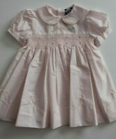 Carriage Boutique Baby Girl's Pink Smocked Dress Embroidered Size 18 Months
