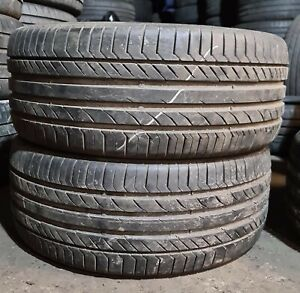 X2 Matching Pair Of 245/45/17 Continental Contact Sport 5 95W Tyres