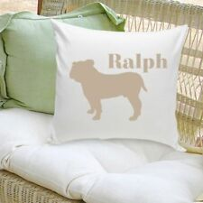 Personalized Decorative Dog Silhouette Throw Pillow Dog Lover Gift Pick Breed