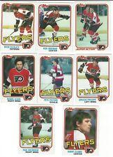 Philadephia Flyers 1981-82 ToppsHockey Cards NM-MT Clarke, Leach, Propp+ Pick 3