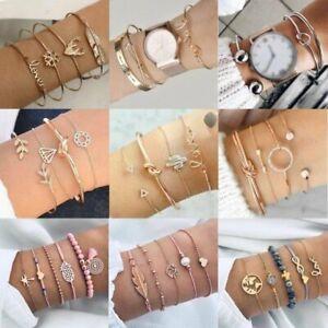 Charm Women Jewelry Set Stainless Steel Lots Style Cuff Bracelet Bangle Jewelry