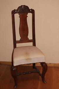 Stuhl, Polsterstuhl Chippendale Barock Eiche * 2459