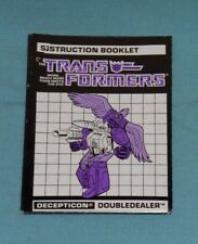 original G1 Transformers Powermaster DOUBLEDEALER INSTRUCTION BOOKLET manual