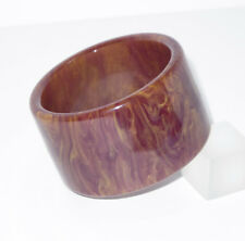 Vintage Bakelite Bracelet Bangle rare purple stardust marble extra wide shape