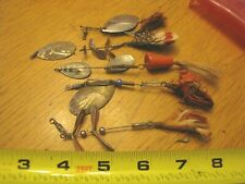 VINTAGE ASSORTMENT OF SPINNERS AND A SMALL FROG L@@K!!!!!!