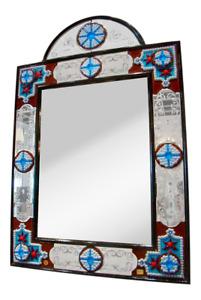 Venetian Millefiore Mirror by Fratelli Barbini of Murano