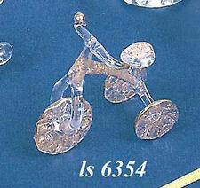 bomboniera battesimo triciclo in vetro cm 7x5,5