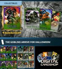 Topps Marvel Collect Card Trader The Goblins Halloween- Purple & Green Set of 16