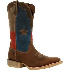 "Durango DDB0333 Men's Rebel Pro Texas Flag 12"" Square Toe Western Boots Shoes"
