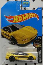 1990 90 ACURA NSX YELLOW SPORTS CAR BLACK 4 94 2017 HW HOT WHEELS