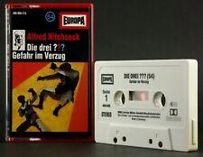 Die drei ??? 54 Fragezeichen Gefahr im Verzug Hörspiel MC grau 1992 Europa