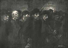 Theophile Steinlen Reproduction: Workers Leaving the Factory - Fine Art Print